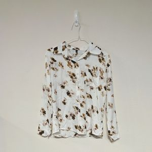 Korean streetwear floral button down size S